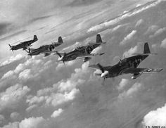 Mustangs of the 361st Fighter Group during the summer of 1944.