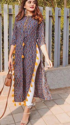 Salwar Designs, Simple Kurti Designs, Kurti Neck Designs, Kurta Designs Women, Kurti Designs Party Wear, Blouse Designs, Stylish Dresses, Casual Dresses, Fashion Dresses