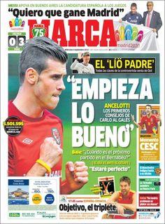 Los Titulares y Portadas de Noticias Destacadas Españolas del 4 de Septiembre de 2013 del Diario Marca ¿Que le pareció esta Portada de este Diario Español?