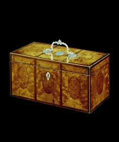 A GEORGE III SATINWOOD TEA CADDY - English Antique Furniture – Ronald Phillips Antique ...