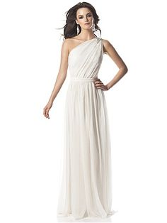 This dress by The Dessy Group made me audibly gasp.  It's flowy, has one shoulder, and has a little bling.  May have to try this one on.