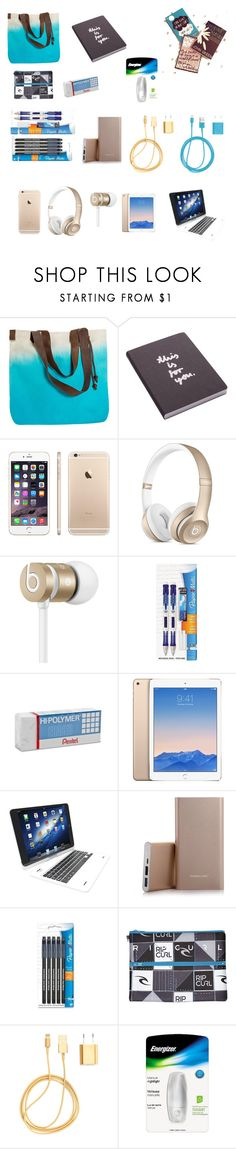 """""""Travel Necessities- Part 2"""" by cherryflame14 ❤ liked on Polyvore featuring Olivier Desforges, Nuuna, Beats by Dr. Dre, Paper Mate, Pentel, Tzumi, Nexus, Rip Curl, PhunkeeTree and Energizer"""