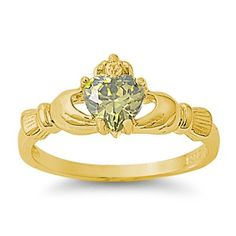 9MM 2ctw 18k-Gold Plated .925 Sterling Silver AUGUST PERIDOT BIRTHSTONE IRISH ROYAL HEART Claddagh Ring 4-10 (4, .925 FINE ITALIAN STERLING SILVER) THE ICE EMPIRE http://www.amazon.com/dp/B00A6FK24I/ref=cm_sw_r_pi_dp_FzzAub1T9K84E
