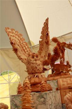 Wood-Chip Sculptures by Sergei Bobkov