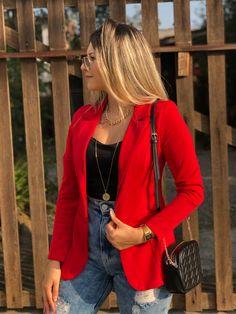 Blazer Off White, Look Blazer, Look At Me, Casual Looks, Amanda, Ideias Fashion, Feminine, Leather Jacket, Street Style