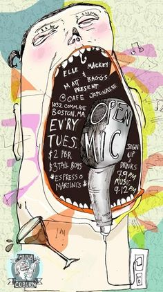 Open Mic #music #poster #illustration
