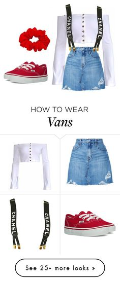 """Untitled #449"" by bhgrace on Polyvore featuring Nobody Denim, Vans and Chanel"