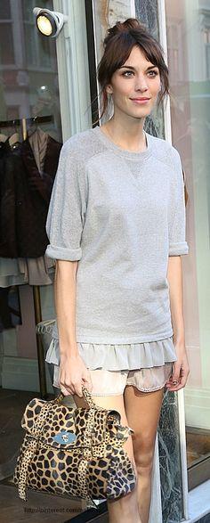 Alexa Chung bag, sweatshirt