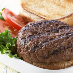 Seasonings make a basic burger better! Top with lettuce, tomato and your favorite condiments to make an all-American classic.