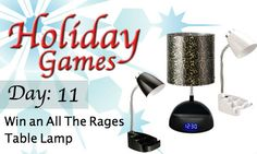 Today's giveaway is in session. Enter to win one of these desk lamps from All The Rages!   http://blog.shoplet.com/office-supplies/holiday-games-12-days-of-giveaways/