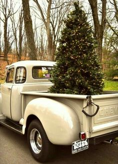 Merry Christmas And Happy New Year Old Chevy Truck