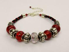 kumihimo with pandora bead | Charm Bead Bracelet