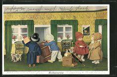 schöne AK Hochzeitsreise, Käthe Kruse-Puppen packen ihre Koffer 1931   eBay