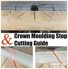 Crown moulding stops and cutting guide - make crown moulding as easy as pie!