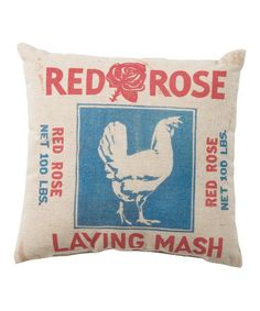 Another great find on #zulily! 'Red Rose Laying Mash' Pillow #zulilyfinds