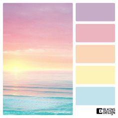Lovely, fresh spring pastel color palette! #beachdecor