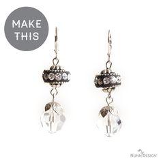 Free DIY Breakfast With Tiffany's Earring Tutorial using Nunn Design Findings.