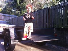 Getting out the box trailer. Box Trailer, Diesel Engine, Brisbane, Trailers, Trucks, Hang Tags, Truck
