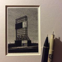 Taylor Mazer vit dans le Michigan et crée de minuscules dessins très détaillés de paysages américains en utilisant des stylo-feutres.