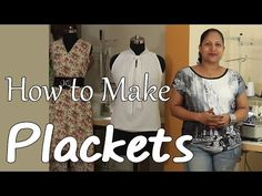 Class 17 - How to make Plackets and Continuous bound placket / easy & neat method - YouTube