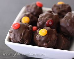 krispy peanut butter truffles