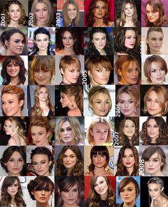 Keira Knightley Hair Timeline