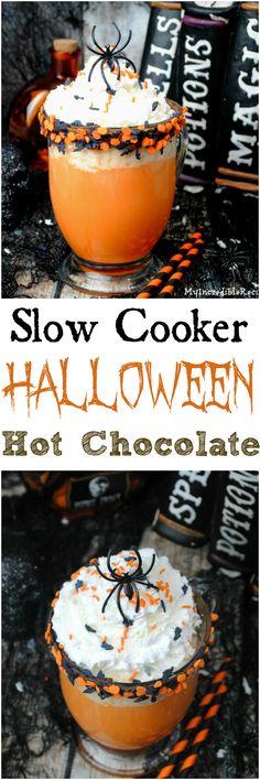 Slow Cooker Halloween Hot Chocolate!