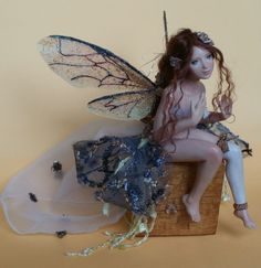 I missed good lighting yesterday and I wasn't satisfied with close-up photos. I need a good camera... Spring Fairy, hand made, polymer clay, hand painted. She is 15 cm with the base (5,9 inches). H...