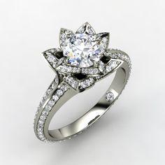 http://rubies.work/0981-ruby-pin-brooch/ lotus ring by gemvara
