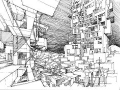Big, small and interspace in architecture.