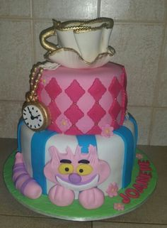 Alice in Wonderland. Mad hatter cake.