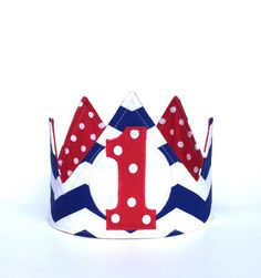 A personal favorite from my Etsy shop https://www.etsy.com/listing/205345159/nautical-first-birthday-crown-1st