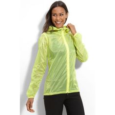 Women's Nike Cylcone Polka Dots Running Rain Jacket Voltage Yellow L-XL #Nike #CoatsJackets