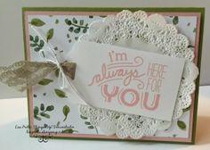 Stampin'Up! Friendly Wishes stamp set, English Garden Designer Series Paper, #lisapretto #inkbigacademy