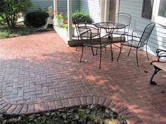 Herringbone With Brick Border Stamped Patio Middleton | Yelp