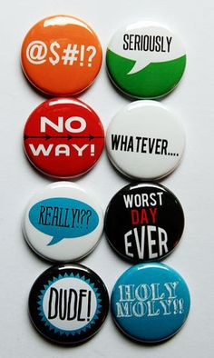 Whatever Flair by aflairforbuttons on Etsy, $6.00