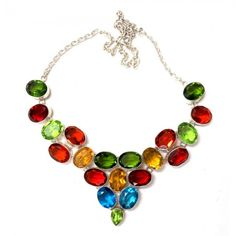 Color Pop Glass Stones Necklace, $50