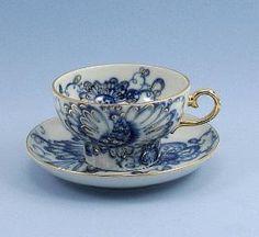 russian tea cups | Vintage Tea Cup and Saucer Lomonosov Singing Garden Porcelain Cobalt ... by maricela