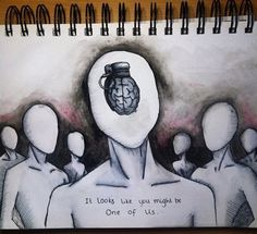 """just because we check the guns at the door doesn't mean our brains will change from hand grenades"" 