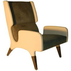 Armchair by Gio Ponti, Italy, 1964.  For the Parco Dei Principi Hotel, Rome.  Made by Cassina.