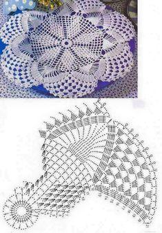 Home Decor Crochet Patterns Part 165 - Beautiful Crochet Patterns and Knitting Patterns Cotton Crochet Patterns, Crochet Square Patterns, Knitting Patterns, Crochet Doily Diagram, Crochet Mandala Pattern, Thread Crochet, Crochet Stitches, Crochet Dollies, Crochet Tablecloth