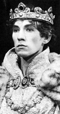 """Photo: Sir Ian McKellen from a 1968 production of """"Richard II"""" (Credit: © Michael Peto Collection, University of Dundee)."""