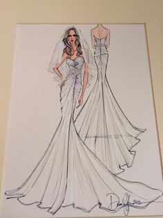 Bridal sketch. The most special present from my husband. @erika_carbray