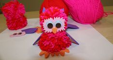 A fun little character to make for Valentine's day using yarn, EVA foam and card! Valentine Crafts For Kids, Mothers Day Crafts, Crafts To Make, Valentines, After School Club Activities, Pom Pom Owl, How To Make A Pom Pom, Toddler Age, My Love