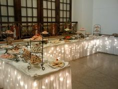Cookie table for weddings (a tradition in Ohio and PA, esp. Pittsburgh) Cookie_table. The wedding cookie table is tied to Italian and Catholic traditions