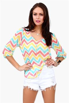 Candy Cane Blouse - Multi