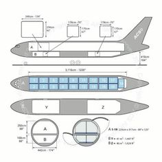 Boeing B767-200F freighter diagram (ACS http://www.aircharterservice.com/)