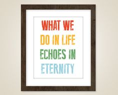 Inspirational  quote art   8 x 10 print  movie by quoteaddict, $15.00