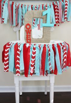 diy high chair fabric banner - Google Search