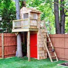 Kids clubhouse, I love this idea of building a useful structure underneath and puting the clubhouse on top